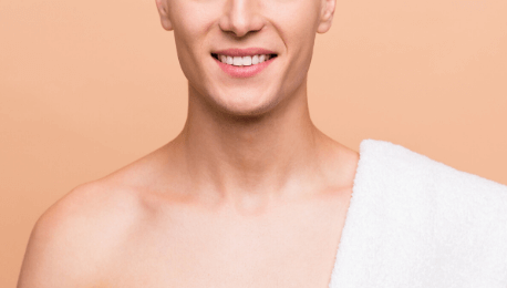 Clean shaven man